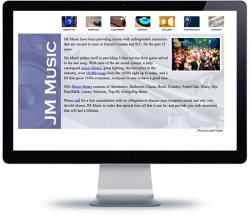 affordable drupal cms web design for Vancouver Music DJ