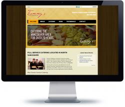 affordable cms web design for food catering, North Vancouver