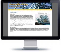 affordable drupal cms web design for Victoria Blue Bridge