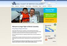 affordable drupal cms web design for non-profit medical transport, Vancouver Island