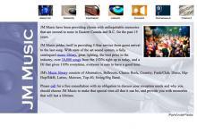 affordable drupal cms web design for Vancouver Music DJ